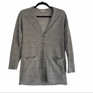 Socialite Gray Cardigan Sweater Size XS